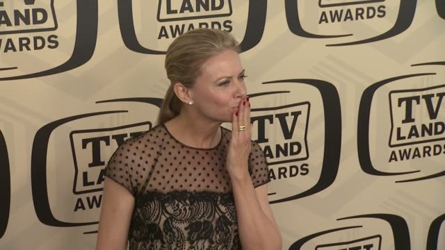 faith ford at tv land awards 10th anniversary arrivals at lexington avenue armory on april 14 2012 in new york ny - tv land awards stock videos and b-roll footage