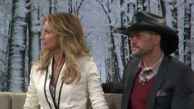 faith hill and tim mcgraw at the 'good morning america' show studio in new york on 2/8/2012 - tim mcgraw stock videos and b-roll footage