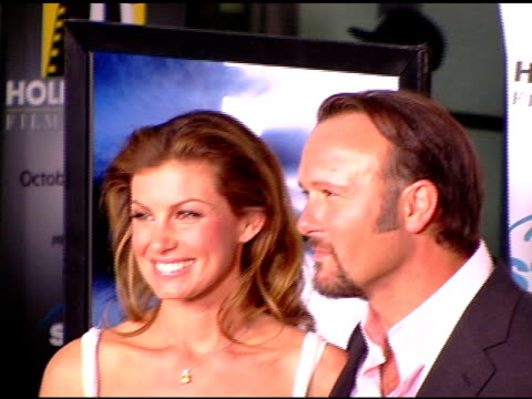 faith hill and tim mcgraw at the hollywood film festival's opening night film gala of 'flicka' arrivals at arclight cinemas in hollywood california... - tim mcgraw stock videos and b-roll footage