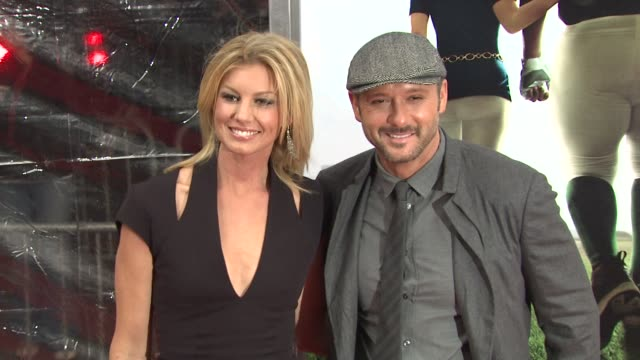 faith hill and tim mcgraw at the new york premiere of 'the blind side' at new york ny - tim mcgraw stock videos and b-roll footage