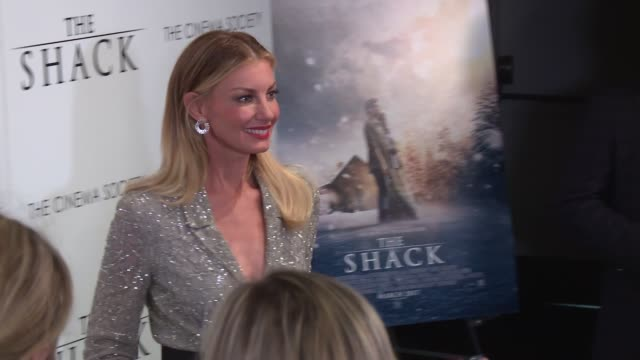 Faith Hill at The World Premiere Of 'The Shack' at MOMA on February 28 2017 in New York City