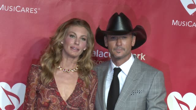 faith hill, tim mcgraw at musicares 2013 person of the year tribute 2/8/2013 in los angeles, ca. - tim mcgraw stock videos & royalty-free footage