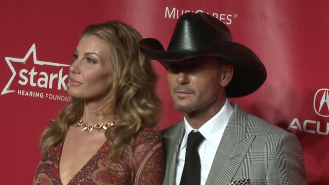 faith hill tim mcgraw at musicares 2013 person of the year tribute 2/8/2013 in los angeles ca - tim mcgraw stock videos and b-roll footage