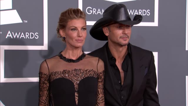 faith hill tim mcgraw at the 55th annual grammy awards arrivals faith hill tim mcgraw at the 55th annual grammy a at staples center on february 10... - tim mcgraw stock videos and b-roll footage