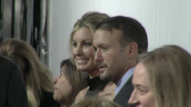 faith hill tim mcgraw at the 'country strong' premiere at beverly hills ca - tim mcgraw stock videos and b-roll footage