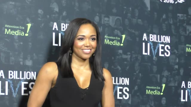 faith jenkins at the premiere of award-winning documentary 'a billion lives' on october 26, 2016 in hollywood, california. - ドキュメンタリー映画点の映像素材/bロール