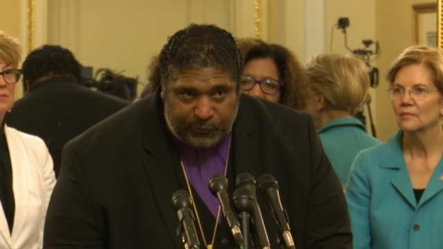faith leader william barber says at a press conference opposing judge brett kavanaugh for the supreme court that should kavanaugh be confirmed the... - brett kavanaugh stock videos and b-roll footage