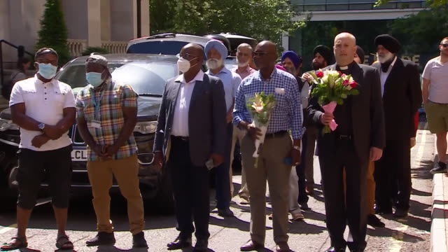 faith leaders in reading come together to pay tribute to the three men who died in the terror attack in forbury gardens park - crime and murder stock videos & royalty-free footage