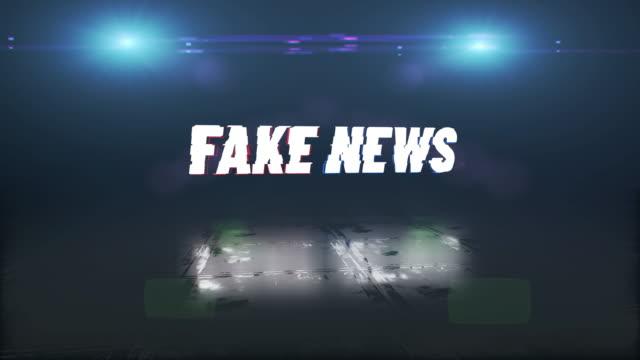fake-news-hintergrund in einer pannen-umgebung - künstlich stock-videos und b-roll-filmmaterial