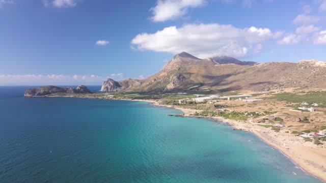 vidéos et rushes de plage de falassarna - grèce