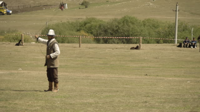 falconry competition at the world nomad games - nomadic people stock videos & royalty-free footage
