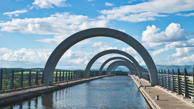 falkirk wheel / scotland, united kingdom - ridge stock videos & royalty-free footage