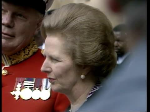 mrs thatcher england london whitehall margaret thatcher cas ex eng/rerun itn 117mins tx'd21482/nao archive tape 0200240437 to 0556 - フォークランド諸島点の映像素材/bロール