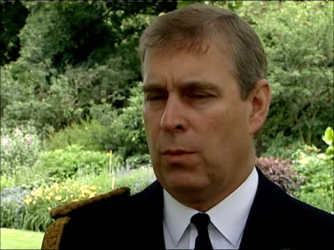 25th anniversary Duke of York interview Prince Andrew interview SOT On people forgetting about the sacrifice and efforts made by the services in the...