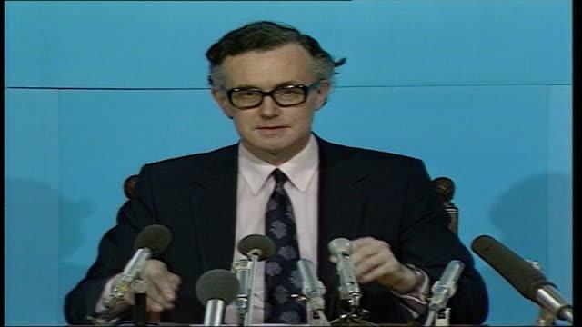 25th anniversary hms sheffield bombing tx captain james salt commander of hms sheffield press conference sot - sheffield video stock e b–roll