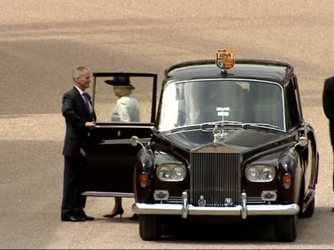 25th anniversary Memorial ceremony at Horse Guards parade Prince Charles Prince of Wales and Camilla Duchess of Cornwall arriving in black Rolls...