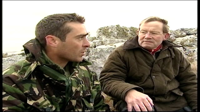 25th anniversary: the yomp: day 5; green telling passmore that what he did was astonishing sot - day 5 stock videos & royalty-free footage