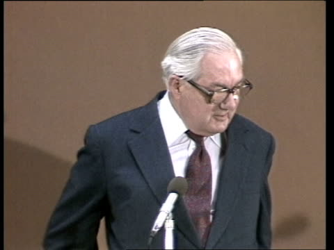 henry kissinger / james callaghan press conference england london meeting ms henry kissinger sof in the current crisis bv audience sustained ms james... - p. d. james stock videos & royalty-free footage