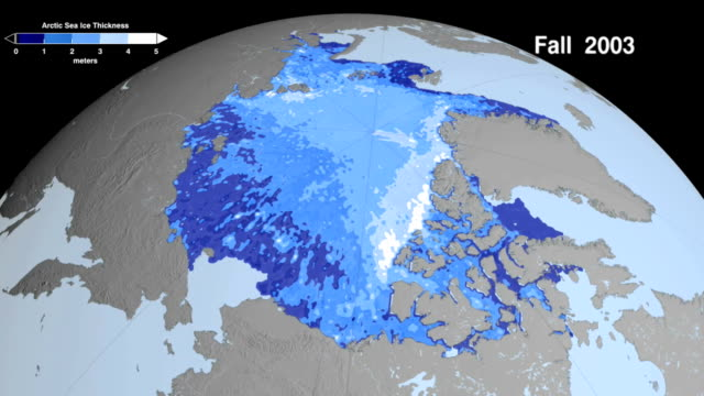 Fall Arctic Sea Ice Thickness Declining Rapidly.
