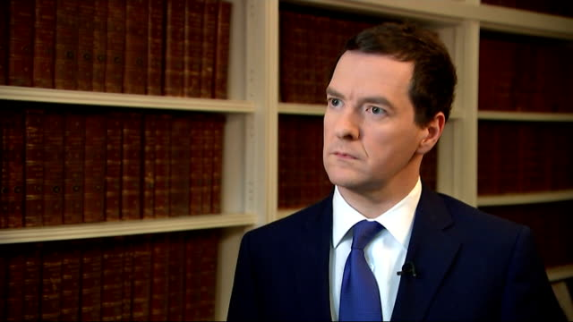george osborne interview england london westminster int george osborne mp interview sot double dose of good news for families and pensioners increase... - dose stock videos & royalty-free footage