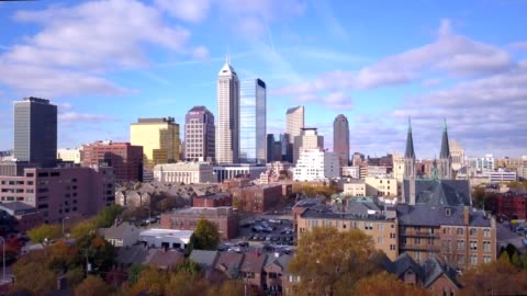 fall leaves over indianapolis - indiana stock videos & royalty-free footage