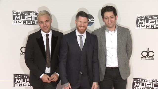 Fall Out Boy at 2015 American Music Awards Arrivals in Los Angeles CA