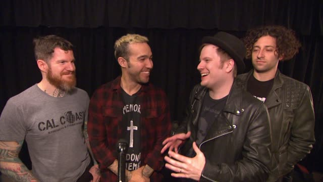 INTERVIEW Fall Out Boy at MGM Grand on May 15 2015 in Las Vegas Nevada