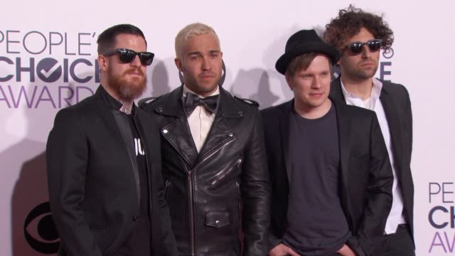 Fall Out Boy at People's Choice Awards 2015 in Los Angeles CA