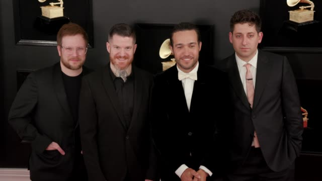Fall Out Boy at the 61st Grammy Awards Arrivals at Staples Center on February 10 2019 in Los Angeles California – EDITORIAL