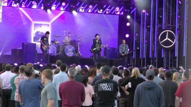 fall out boy outside jimmy kimmel live in hollywood in celebrity sightings in los angeles - jimmy kimmel stock videos and b-roll footage