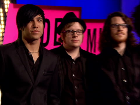 Fall Out Boy Posing on the 2007 MTV Video Music Awards Red Carpet