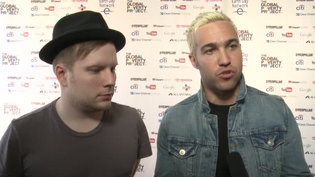 interview fall out boy's patrick stump and pete wentz on the last time he was at the national mall on earth day at fall out boy at global citizen... - earth day stock videos & royalty-free footage