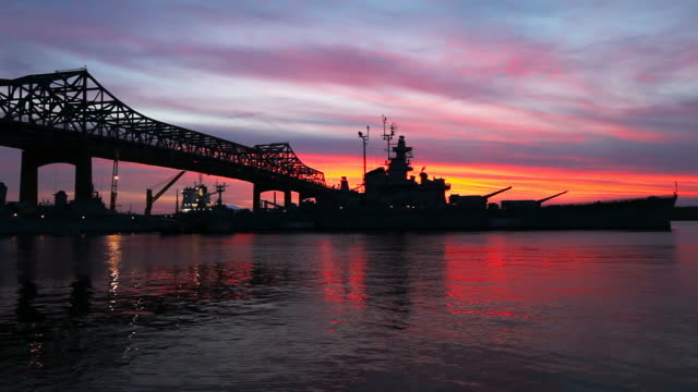 fall river heritage state park - battleship stock videos & royalty-free footage