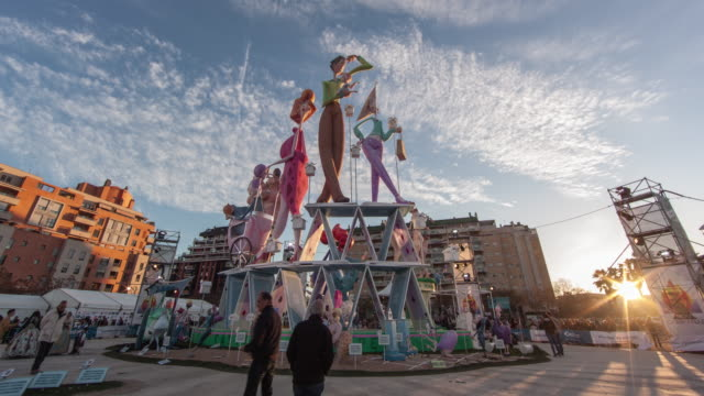 falla monument nou campanar 2013 of valencia - monument stock videos & royalty-free footage