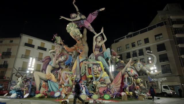 falla - escultura stock videos & royalty-free footage