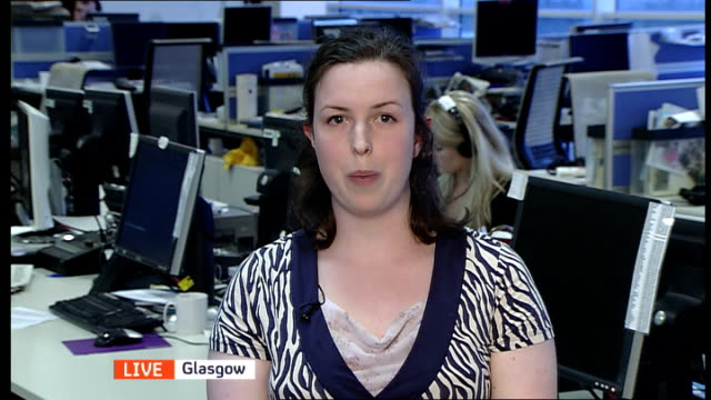 studies reveal that insecticides could be cause england london gir int steph o'connor 2 way interview from glasgow sot - stirling stock videos and b-roll footage