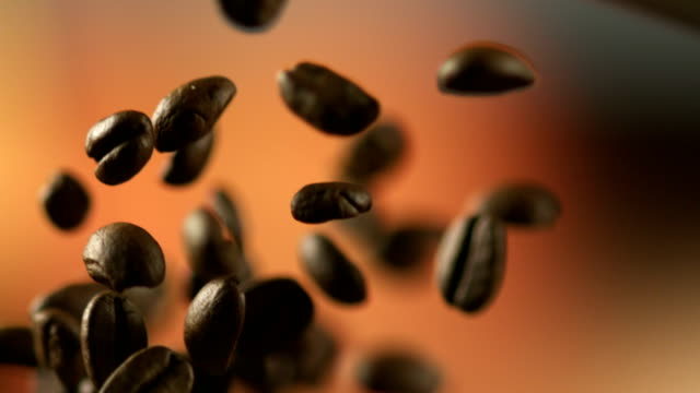 falling coffee beans. - roasted stock videos & royalty-free footage