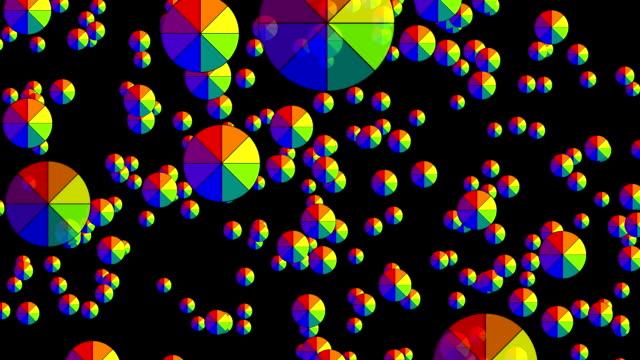 Falling color wheel