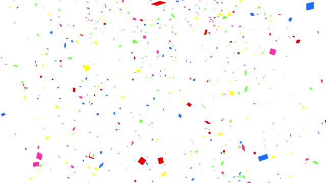falling colorful confetti with alpha channel 4k - celebration stock videos & royalty-free footage