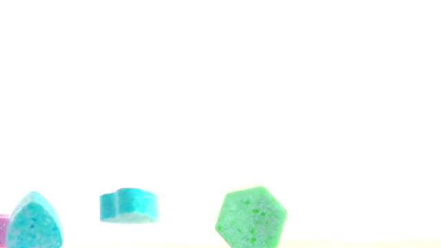 falling coloured candy - jellybean stock videos & royalty-free footage