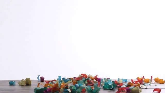 falling confetti - 2010 stock videos & royalty-free footage