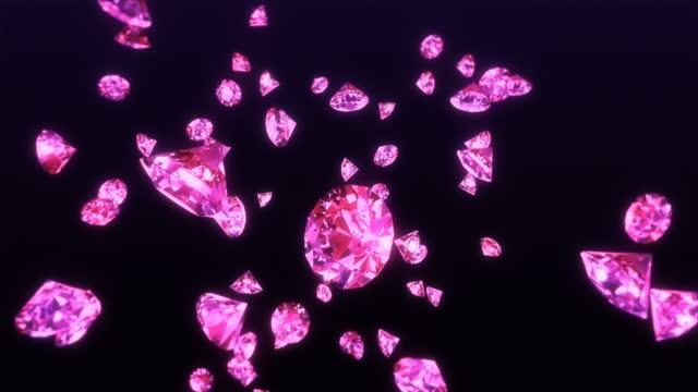 falling diamonds 4k - close-up - stone object stock videos & royalty-free footage