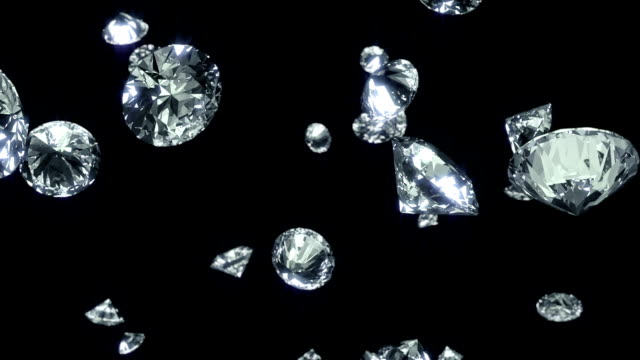 falling diamonds background - stone object stock videos and b-roll footage