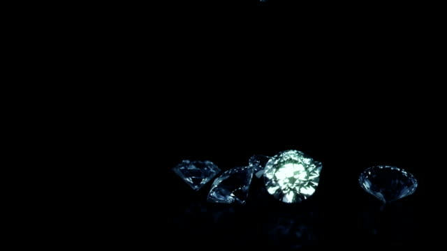 falling diamonds blue - stone object stock videos and b-roll footage