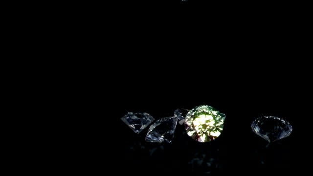falling diamonds - stone object stock videos and b-roll footage