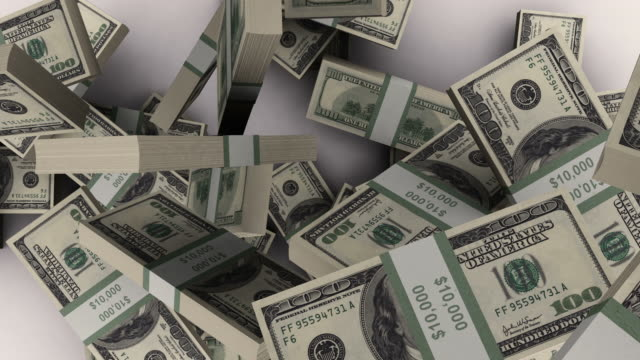 falling dollar bills - us paper currency stock videos & royalty-free footage