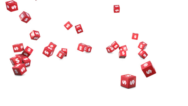 falling dollar cubes - cube stock videos & royalty-free footage