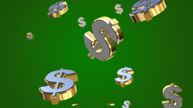 falling dollars 3d - dollar symbol stock videos & royalty-free footage