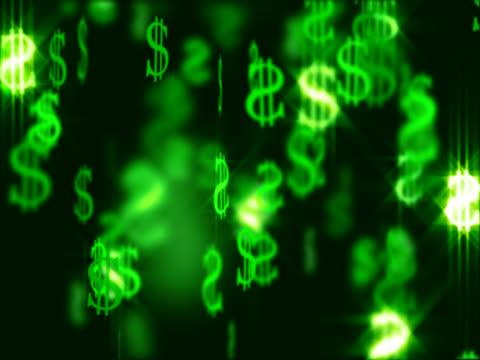 falling dollars (ntsc) - financial accessory stock videos & royalty-free footage