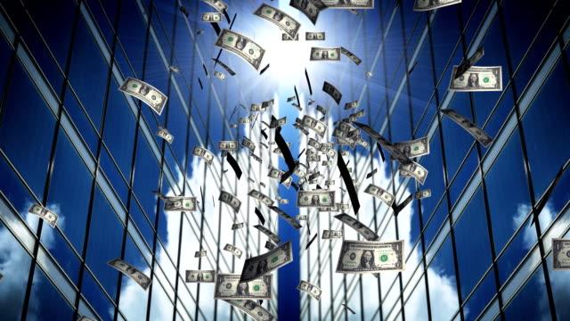 falling dollars - banknote stock videos & royalty-free footage